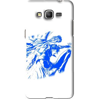 Snooky Printed Horse Boy Mobile Back Cover For Samsung Galaxy Grand Max - White