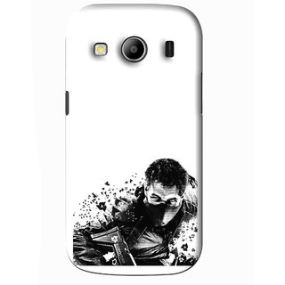 Snooky Printed Commando Mobile Back Cover For Samsung Galaxy Ace 4 - White