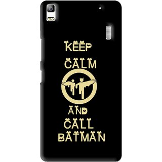 Snooky Printed Keep Calm Mobile Back Cover For Lenovo K3 Note - Black