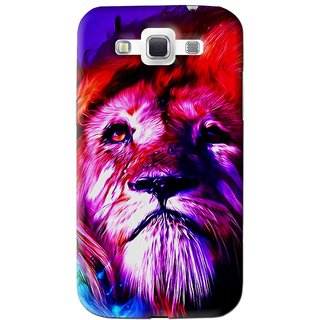 Snooky Printed Freaky Lion Mobile Back Cover For Samsung Galaxy 8552 - Multi
