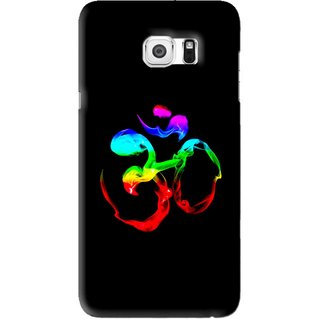 Snooky Printed Om Mobile Back Cover For Samsung Galaxy S6 Edge Plus - Black