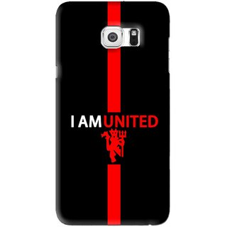 Snooky Printed United Mobile Back Cover For Samsung Galaxy S6 Edge Plus -  Black