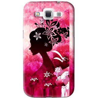Snooky Printed Pink Lady Mobile Back Cover For Samsung Galaxy 8552 - Pink