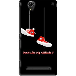 Snooky Printed Attitude Mobile Back Cover For Sony Xperia T2 Ultra - Black
