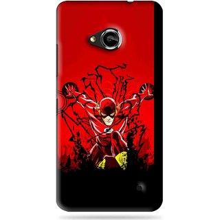 Snooky Printed Super Hero Mobile Back Cover For Microsoft Lumia 550 - Black