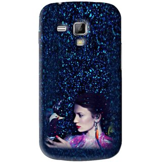 Snooky Printed Blue Lady Mobile Back Cover For Samsung Galaxy S Duos S7562 - Blue