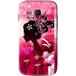 Snooky Printed Pink Lady Mobile Back Cover For Samsung Galaxy Ace 3 - Pink