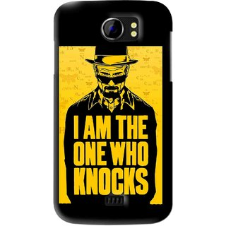 Snooky Printed Who Knocks Mobile Back Cover For Micromax Canvas 2 A110 - Black