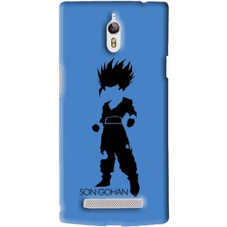 Snooky Printed Son Gohan Mobile Back Cover For Oppo Find 7 - Blue