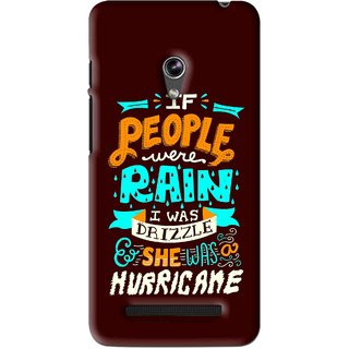 Snooky Printed Monsoon Mobile Back Cover For Asus Zenfone 5 - Brown