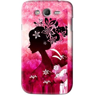 Snooky Printed Pink Lady Mobile Back Cover For Samsung Galaxy Grand 2 - Pink