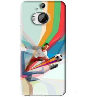 Snooky Printed Kick FootBall Mobile Back Cover For HTC One M9 Plus - Multi
