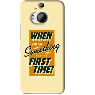 Snooky Printed First Time you Did Mobile Back Cover For HTC One M9 Plus - Yellow