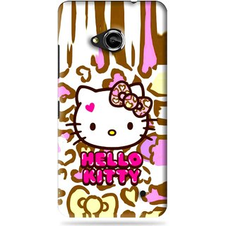 Snooky Printed Cute Kitty Mobile Back Cover For Microsoft Lumia 550 - Multi