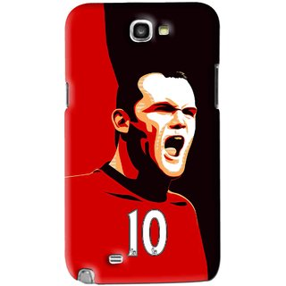 Snooky Printed Sports ManShip Mobile Back Cover For Samsung Galaxy Note 2 - Black