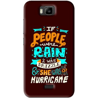 Snooky Printed Monsoon Mobile Back Cover For Huawei Honor Bee - Brown