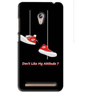 Snooky Printed Attitude Mobile Back Cover For Asus Zenfone 6 - Black