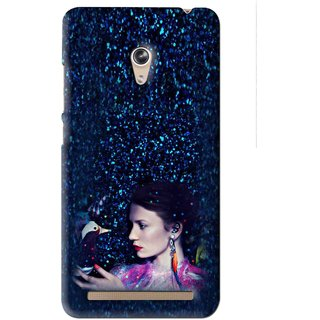 Snooky Printed Blue Lady Mobile Back Cover For Asus Zenfone 6 - Blue