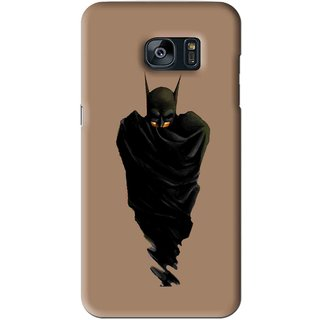 Snooky Printed Hiding Man Mobile Back Cover For Samsung Galaxy S7 - Brown