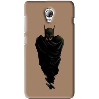 Snooky Printed Hiding Man Mobile Back Cover For Lenovo Vibe P1 - Brown