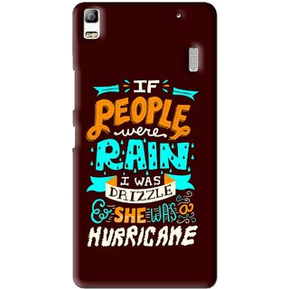 Snooky Printed Monsoon Mobile Back Cover For Lenovo K3 Note - Brown