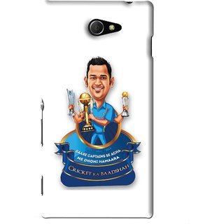 Snooky Printed Cricket Ka Badshah Mobile Back Cover For Sony Xperia M2 - White