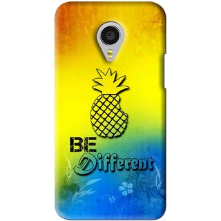 Snooky Printed Be Different Mobile Back Cover For Meizu MX4 Pro - Multi