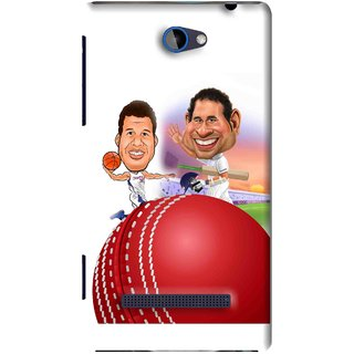 Snooky Printed Play Cricket Mobile Back Cover For HTC 8S - White