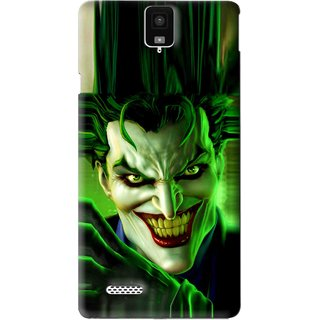 Snooky Printed Horror Wilian Mobile Back Cover For Infocus M330 - Green