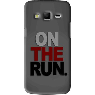 Snooky Printed On The Run Mobile Back Cover For Samsung Galaxy S3 - Grey