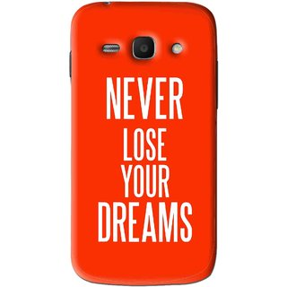 Snooky Printed Never Loose Mobile Back Cover For Samsung Galaxy Ace 3 - Orange