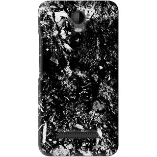 Snooky Printed Rocky Mobile Back Cover For Micromax Bolt Q335 - Black