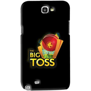 Snooky Printed Big Toss Mobile Back Cover For Samsung Galaxy Note 2 - Black