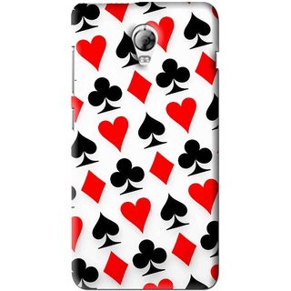 Snooky Printed Playing Cards Mobile Back Cover For Lenovo Vibe P1 - Multi