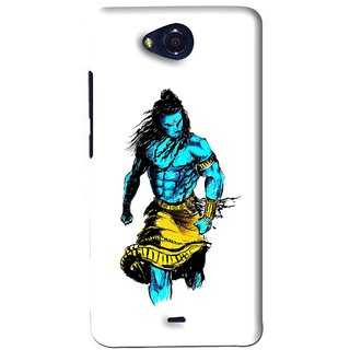 Snooky Printed Bhole Nath Mobile Back Cover For Micromax Canvas Play - White