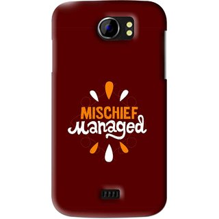 Snooky Printed Mischief Mobile Back Cover For Micromax Canvas 2 A110 - Brown