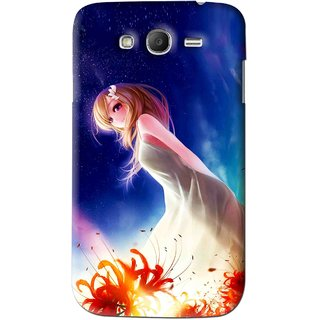 Snooky Printed Angel Girl Mobile Back Cover For Samsung Galaxy Grand 2 - Blue