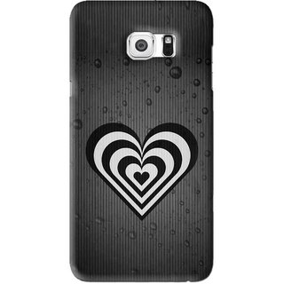 Snooky Printed Hypro Heart Mobile Back Cover For Samsung Galaxy Note 5 Edge - Black
