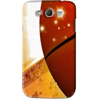 Snooky Printed Basketball Club Mobile Back Cover For Samsung Galaxy Grand 2 - Brown
