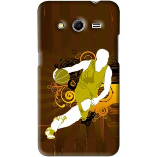 Snooky Printed Chamoins wins Mobile Back Cover For Samsung Galaxy Core 2 - Brown