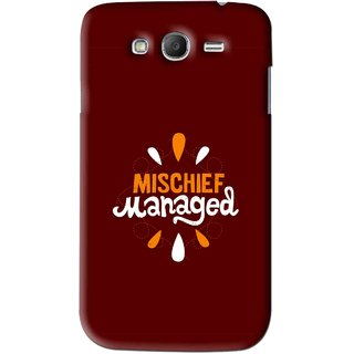 Snooky Printed Mischief Mobile Back Cover For Samsung Galaxy Grand 2 - Brown