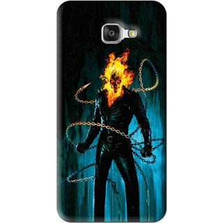 Snooky Printed Ghost Rider Mobile Back Cover For Samsung Galaxy A7 2016 - Blue