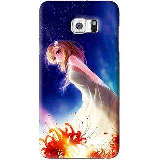 Snooky Printed Angel Girl Mobile Back Cover For Samsung Galaxy S6 Edge Plus - Blue