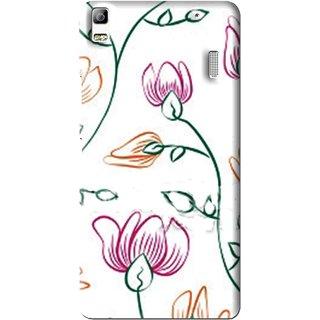 Snooky Printed Flower Sketch Mobile Back Cover For Lenovo K3 Note - White