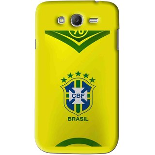 Snooky Printed Brasil Mobile Back Cover For Samsung Galaxy Grand 2 - Yellow