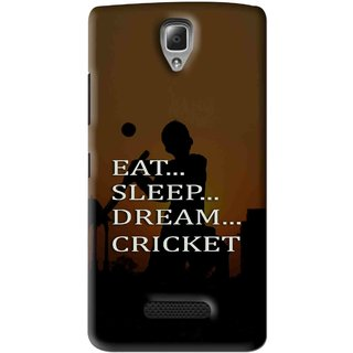 Snooky Printed All Is Cricket Mobile Back Cover For Lenovo A2010 - Brown