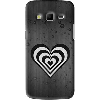 Snooky Printed Hypro Heart Mobile Back Cover For Samsung Galaxy S3 - Black