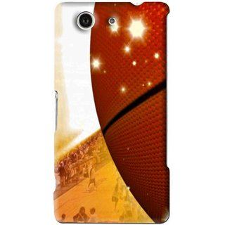 Snooky Printed Basketball Club Mobile Back Cover For Sony Z3 Mini - Brown