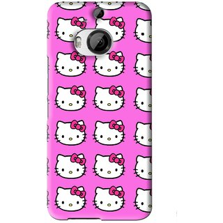 Snooky Printed Pink Kitty Mobile Back Cover For HTC One M9 Plus - Pink