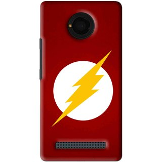 Snooky Printed High Voltage Mobile Back Cover For Micromax Yu Yunique - Red